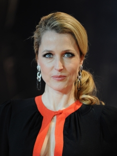 Gillian Anderson attends the UK premiere of 'Mission: Impossible Ghost Protocol' at BFI IMAX, London, on December 13, 2011