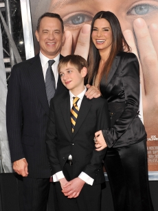 Tom Hanks, Thomas Thorn, and Sandra Bullock are seen at the 'Extremely Loud & Incredibly Close' New York premiere at in New York City on December 15, 2011