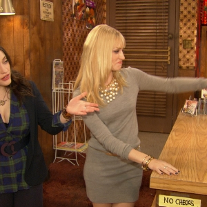 Kat Dennings & Beth Behrs Give Access A Tour Of The 'Two Broke Girls' Set
