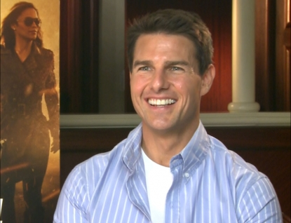 Tom Cruise chats with Access Hollywood at the 'Mission: Impossible - Ghost Protocol' junket in Dubai, United Arab Emirates on December 7, 2011