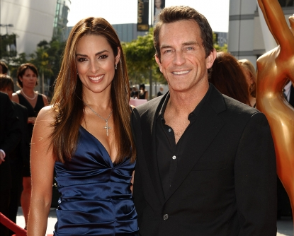 Jeff Probst and Lisa Russell attend the 2011 Creative Arts Emmy Awards at Nokia Theatre L.A. Live in Los Angeles on September 10, 2011