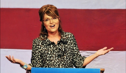 Sarah Palin addresses the Republican Party of Florida Victory Dinner at Walt Disney World in Lake Buena Vista, Florida on November 3, 2011