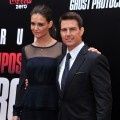Katie Holmes and Tom Cruise step out at the &#8216;Mission: Impossible - Ghost Protocol&#8217; U.S. premiere at the Ziegfeld Theatre in New York City on December 19, 2011 