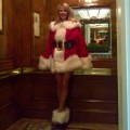 Heidi Klum seen dressed as a sexy Mrs. Claus on December 20, 2011