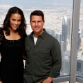Paula Patton and actor Tom Cruise attend a photocall ahead of the &#8216;Mission: Impossible - Ghost Protocol&#8217; Press Conference during the 8th Annual Dubai International Film Festival held on the 124th floor of the Burj Khalifa on December 7, 2011