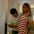Rachel Uchitel shows off her baby bump on Twitter, December 27, 2011