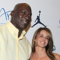 Michael Jordan and Yvette Prieto attend the 10th Annual Michael Jordan Celebrity Invitational Welcome Reception hosted by Jordan Brand And ARIA Resort &amp; Casino At HAZE Nightclub, Las Vegas, on March 30, 2011