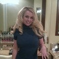 Britney Spears show off her engagement ring on January 4, 2012