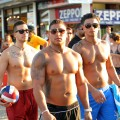 Vinny, Ronnie and Pauly D seen in a shot from Season 5 of MTV's 'Jersey Shore'