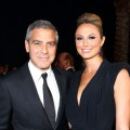 George Clooney and Stacy Keibler arrive at The 23rd Annual Palm Springs International Film Festival Awards Gala at the Palm Springs Convention Center in Palm Springs, Calif., on January 7, 2012