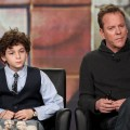 David Mazouz and Kiefer Sutherland take questions during the 'Touch' panel during the FOX Broadcasting Company portion of the 2012 Winter TCA Tour at The Langham Huntington Hotel and Spa, Pasadena, on January 8, 2012