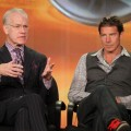Co-hosts Tim Gunn and Ty Pennington speak onstage during the 'The Revolution' panel during the Disney/ABC Television Group portion of the 2012 Winter TCA Tour at The Langham Huntington Hotel and Spa, Pasadena, on January 9, 2012