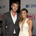 Liam Hemsworth and Actress Miley Cyrus attends People&#8217;s Choice Awards 2012 at Nokia Theatre LA Live in Los Angeles on January 11, 2012