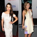 Lea Michele & Miley Cyrus at the 2012 People's Choice Awards
