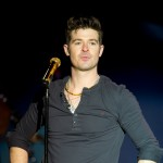 Robin Thicke performs at the World Cafe Live, Philadelphia, on December 29, 2011