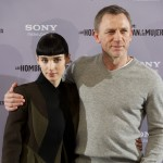 Rooney Mara and Daniel Craig step out at 'The Girl With The Dragon Tattoo' photocall at Villamagna Hotel in Madrid on January 4, 2012