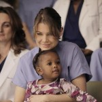 Ellen Pompeo as Meredith on 'Grey's Anatomy' with baby Zola