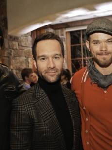 Zachary Quinto, Chris Diamantopoulos and Kellan Lutz attend Audi&#8217;s celebration of the holidays with Piaget and Pathfinders, Aspen, Dec. 19, 2011