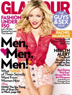 Rachel McAdams on the February 2012 cover of Glamour magazine