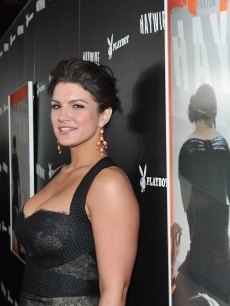 Gina Carano smiles at the premiere of Relativity Media's 'Haywire' at DGA Theater in Los Angeles on January 5, 2012