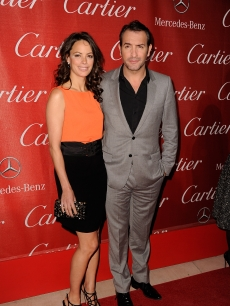 'The Artist' stars Berenice Bejo and Jean Dujardin arrive at the 2012 Palm Springs International Film Festival Awards Gala at Palm Springs Convention Center in Palm Springs, Calif., on January 7, 2012
