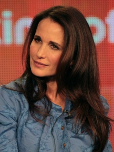 Andie MacDowell speaks onstage during the &#8216;Jane By Design&#8217; panel during the Disney/ABC Television Group portion of the 2012 Winter TCA Tour at The Langham Huntington Hotel and Spa, Pasadena, on January 9, 2012 