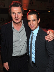 Liam Neeson and Dermot Mulroney attend the after party for the premiere of Open Road Films' 'The Grey' in Los Angeles on January 11, 2012