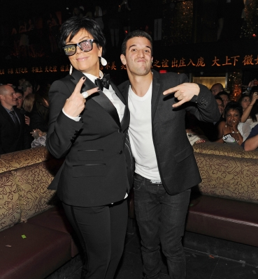 Kris Jenner and Mark Ballas get silly for New Year's Eve at Tao Las Vegas at the Venetian Hotel and Casino in Las Vegas on December 31, 2011