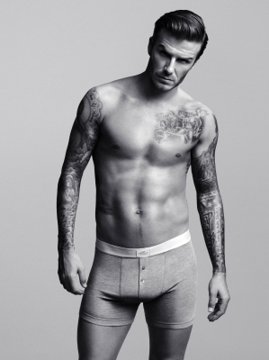David Beckham in a portrait from H&amp;M, 2012
