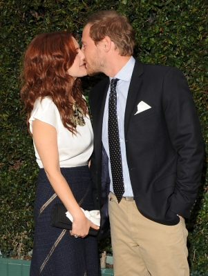 Drew Barrymore and Will Kopelman arrive at Chanel Hosts Benefit Dinner For The Natural Resources Defense Council's Ocean Initiative at a private residence, Malibu, on June 4, 2011