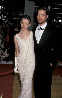 Juliette Lewis and Brad Pitt in 1992 at 64th Annual Academy Awards in Los Angeles