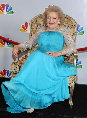 Betty White is all smiles at NBC's taping of 'Betty White's 90th Birthday: A Tribute to America's Golden Girl' at Millennium Biltmore Hotel in Los Angeles on January 8, 2012