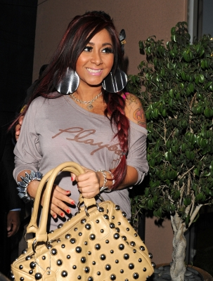 Nicole 'Snooki' Polizzi is seen in Los Angeles on January 9, 2012