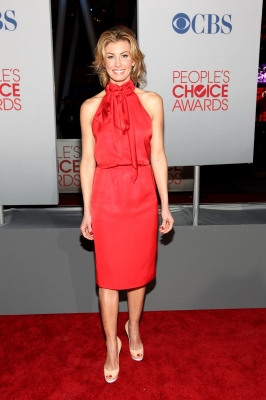 Faith Hill arrives at the 2012 People's Choice Awards at Nokia Theatre L.A. Live in Los Angeles on January 11, 2012