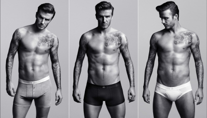 David Beckham in new H&M campaign (Jan. 2012)
