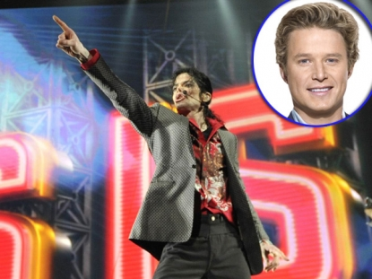 Michael Jackson, inset: Billy Bush