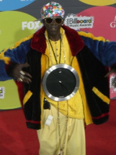 Flav posing for his fans