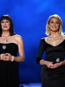 Anjelica Huston & Sharon Stone co-host the Nobel Peace Prize concert