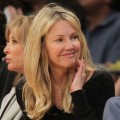 Heather Locklear attends the game between the Phoenix Suns and the Los Angeles Lakers at Staples Center in Los Angeles on January 10, 2012
