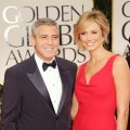 George Clooney and Stacy Keibler are seen looking great at the 69th Annual Golden Globe Awards held at the Beverly Hilton Hotel in Beverly Hills, Calif. on January 15, 2012