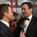 2012 Golden Globes Red Carpet: Jimmy Fallon Reveals 'Tebowie' Inspiration