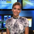 Jessica Alba stops by Access Hollywood Live on January 18, 2012