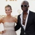Heidi Klum and Seal arrive at the 63rd Primetime Emmy Awards held at Nokia Theatre L.A. Live in Los Angeles on September 18, 2011