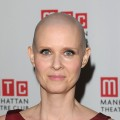 Cynthia Nixon rocks a shaved head ate the opening night after party for her play, &#8216;Wit,&#8217; at the B.B. King Blues Club &amp; Grill in New York City on January 26, 2012