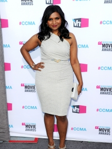 Mindy Kaling arrives at the 17th Annual Critics' Choice Movie Awards held at The Hollywood Palladium in Los Angeles on January 12, 2012