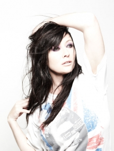 Shannen Doherty in a promo shot for 'Shannen Says'