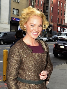 Katherine Heigl steps out in New York City, January 24, 2012