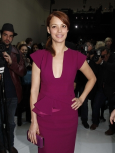 'The Artist' star Berenice Bejo attends the Elie Saab Spring/Summer 2012 Haute-Couture Show as part of Paris Fashion Week at Grand Palais in Paris on January 25, 2012