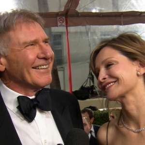 2012 Golden Globes Red Carpet: Harrison Ford & Calista Flockhart Reminisce About Their Romantic First Meeting At The Globes