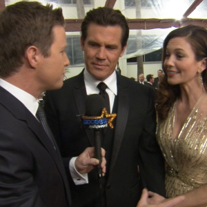 2012 Golden Globes Red Carpet: Diane Lane's Nervous Night